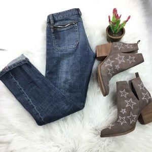 Diesel Slim Skinny Zipper Blue Denim Jeans 25